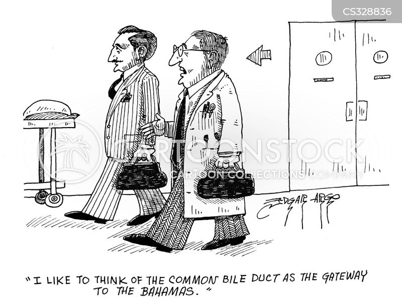 bile duct cartoon