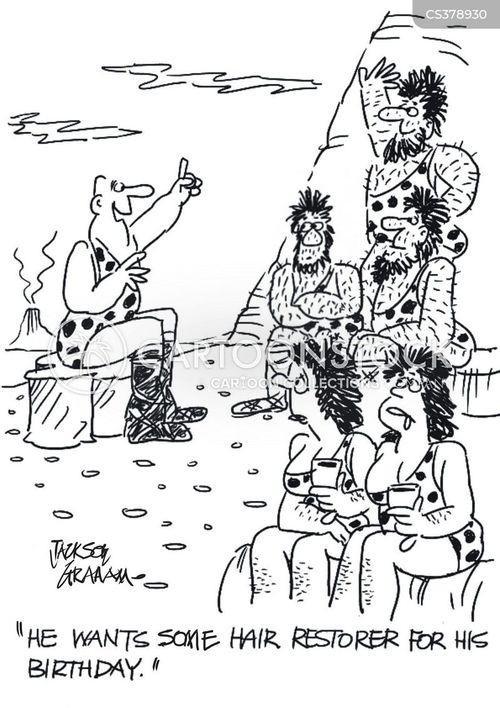 hair restorer cartoon