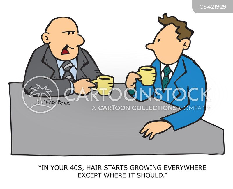 ear hairs cartoon