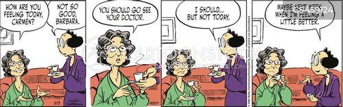 feeling sick cartoon