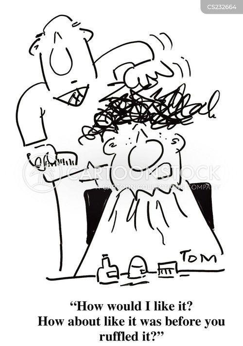 coiffeur cartoon
