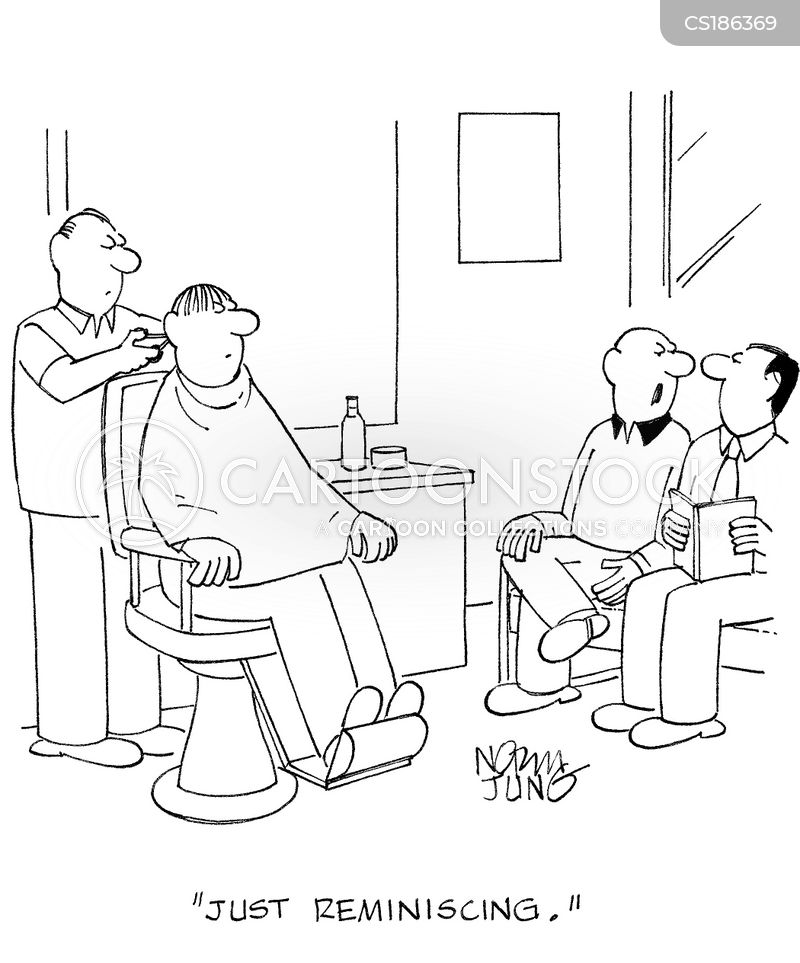 barber shop cartoon