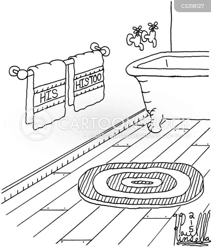 Towel Racks Cartoon 1 Of 3