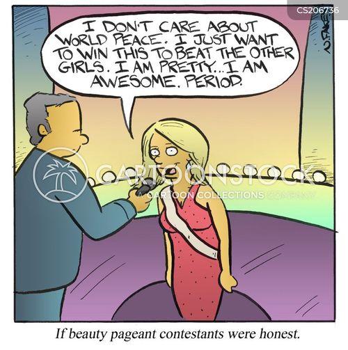 beauty queen cartoon