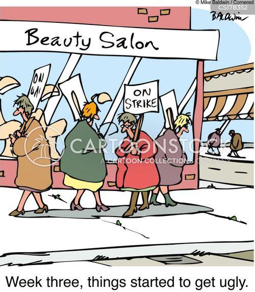 beauty salon cartoon
