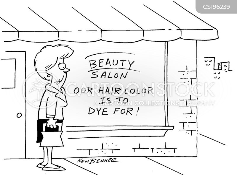 Hair dye Cartoons and Comics funny pictures from CartoonStock