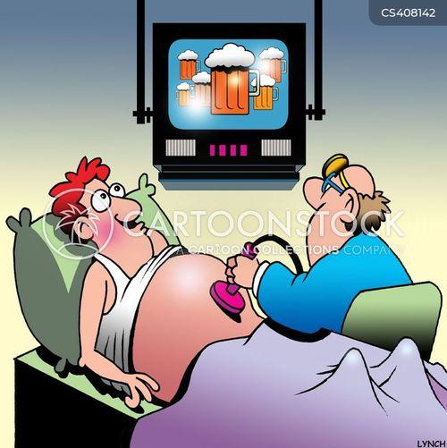 beer guts cartoon