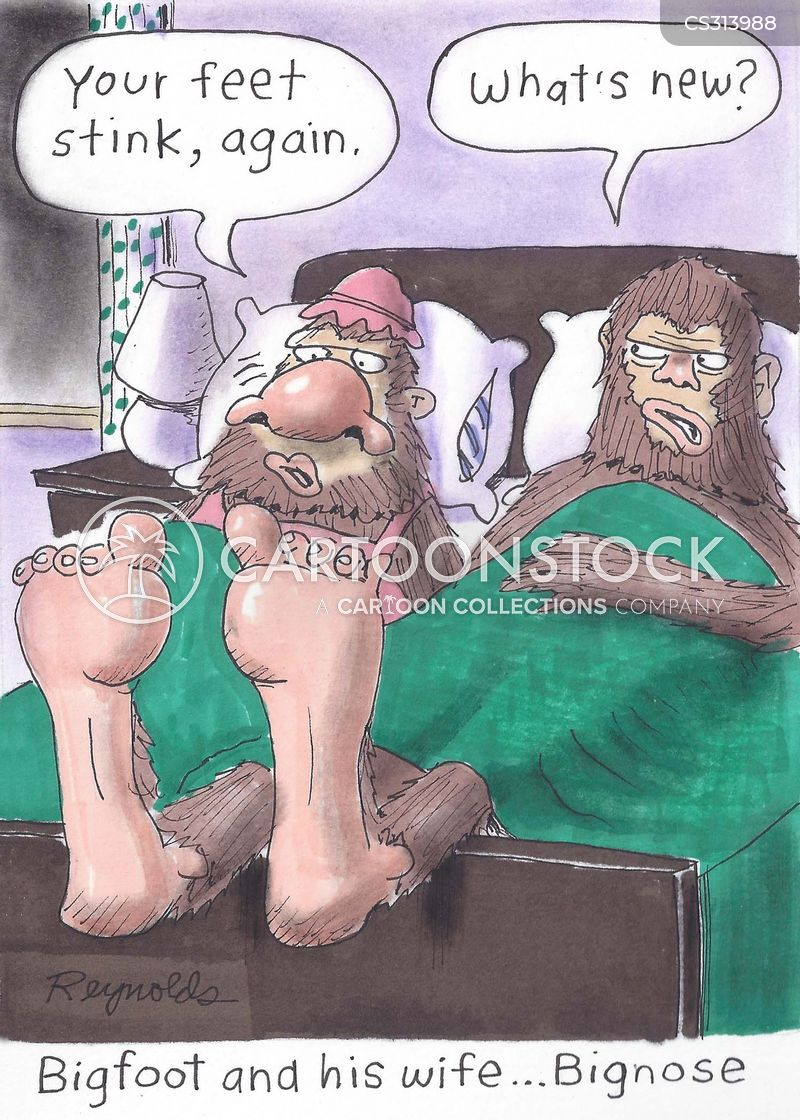 smelly feet cartoon