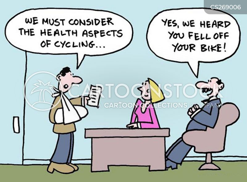 bicycle accident cartoon