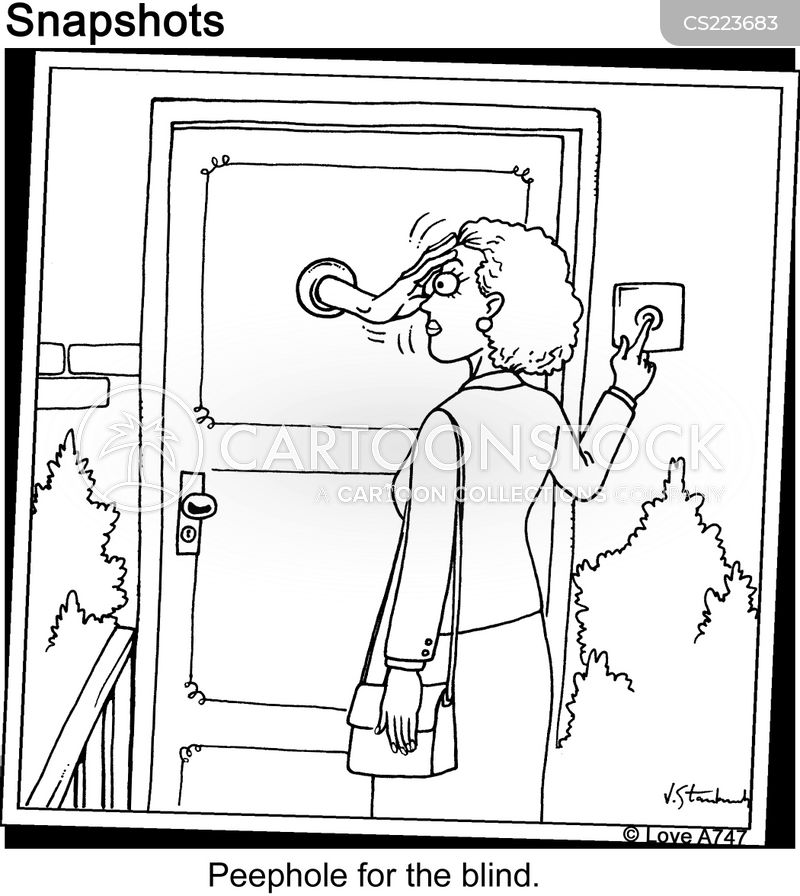 Peephole cartoons, Peephole cartoon, funny, Peephole picture, Peephole pictures, Peephole image, Peephole images, Peephole illustration, Peephole illustrations