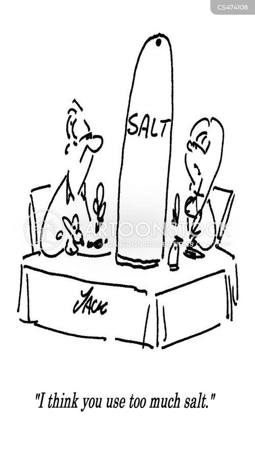 salty food cartoon