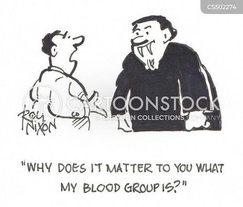 blood groups cartoon