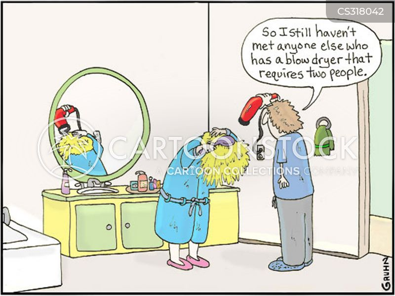 Hair Dryer Cartoons And Comics Funny Pictures From Cartoonstock