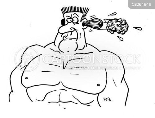 muscle man cartoon