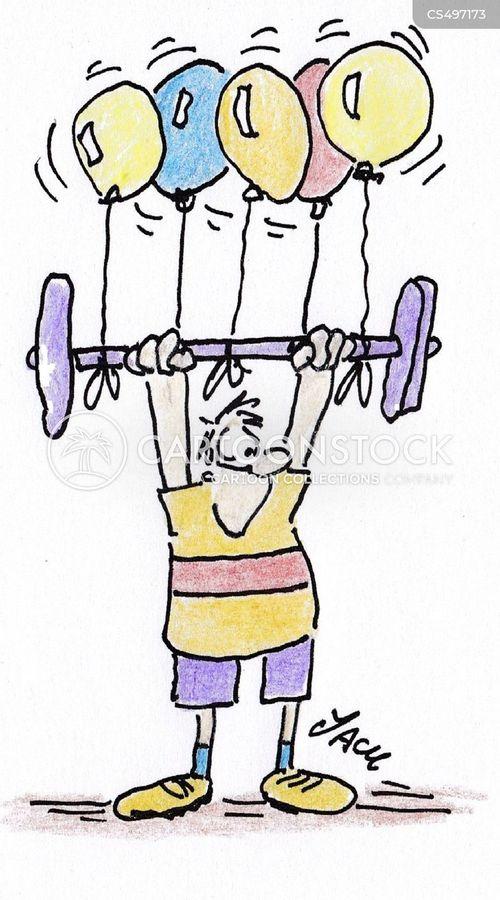 barbell cartoon