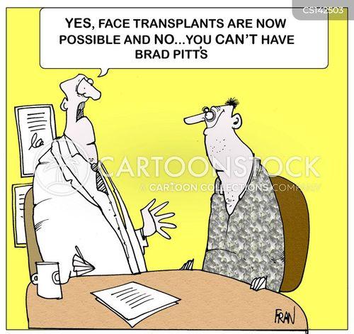 face transplants cartoon