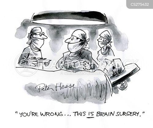 brain surgery cartoon