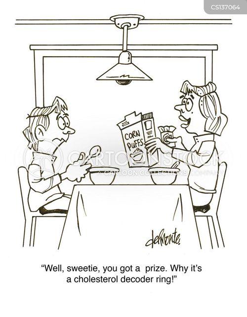 cholesterol check cartoon