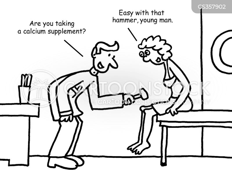 calcium supplement cartoon