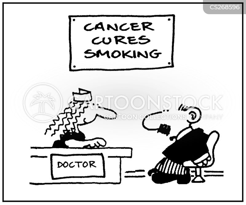 lung cancers cartoon