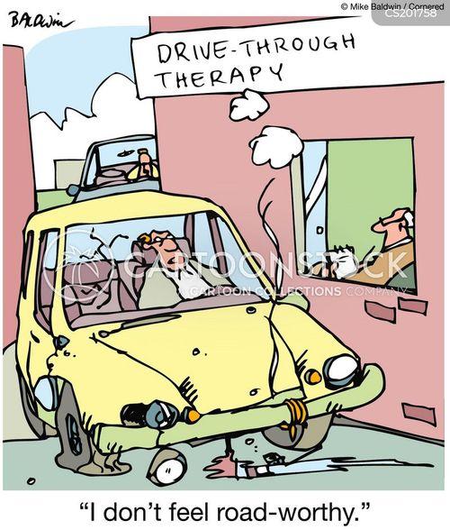 drive-through cartoon