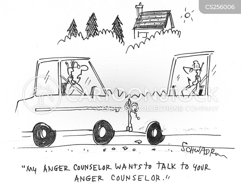 anger counsellor cartoon