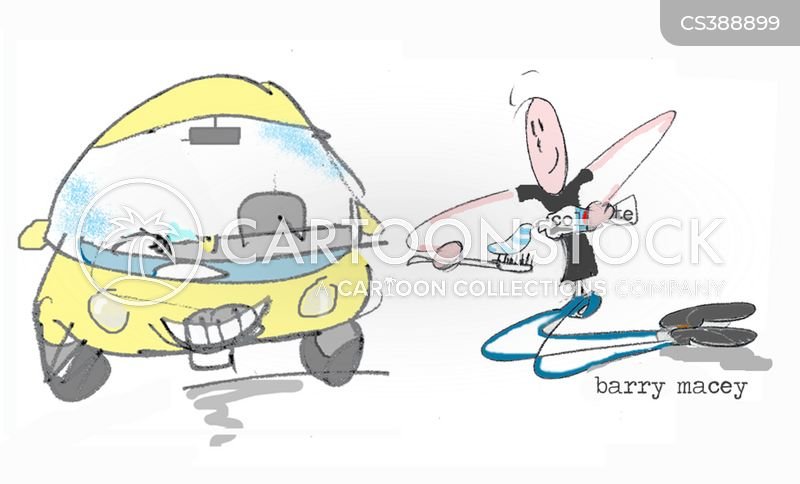 car valeting cartoon