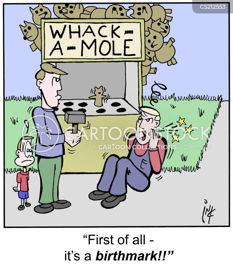 whack a mole cartoon