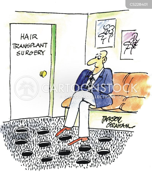 hair plug cartoon