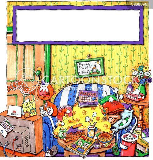 at home cartoon