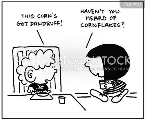 dandruffs cartoon
