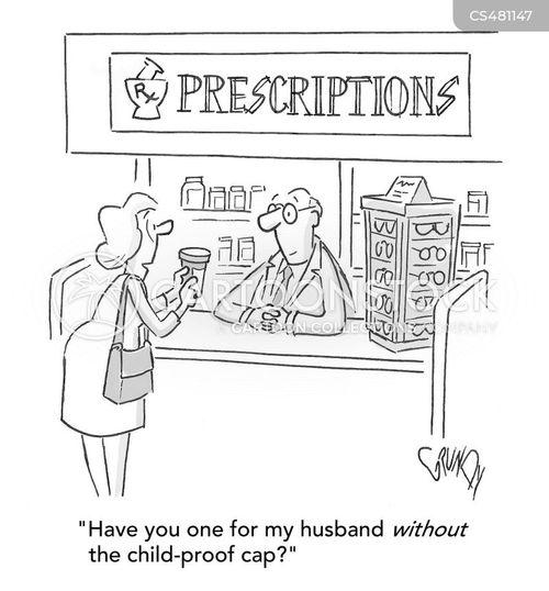 filling prescriptions cartoon