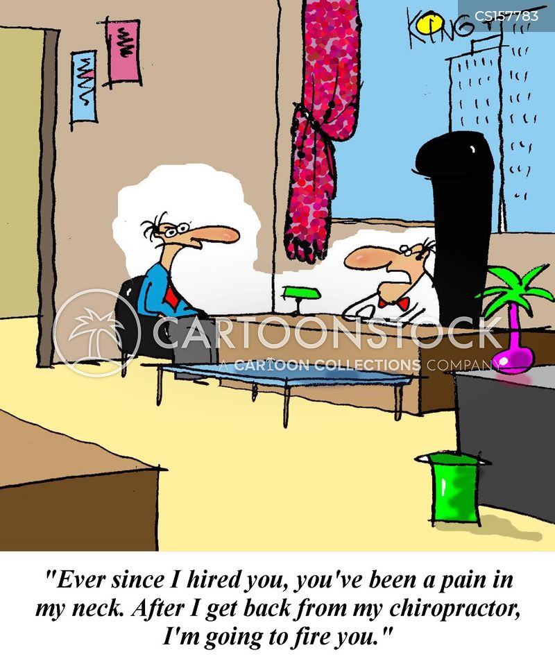 neck pain cartoon