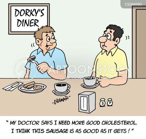 bad cholesterol cartoon