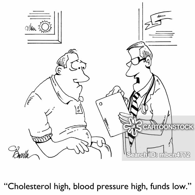 cholesterol problem cartoon