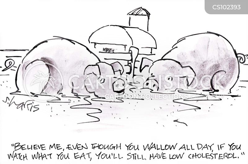 wallowing cartoon