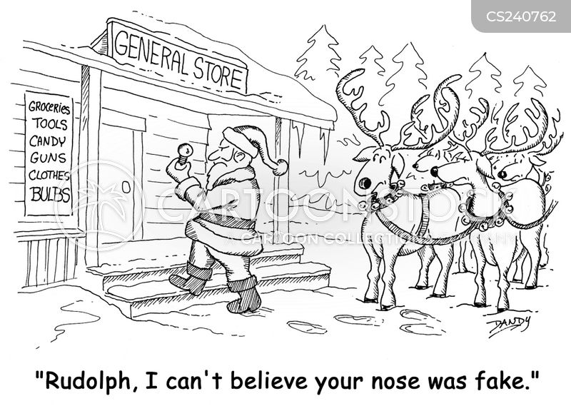 rudolph the red-nosed reindeer cartoon