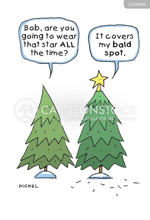 bald spots cartoon