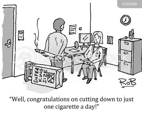 cutting down cartoon