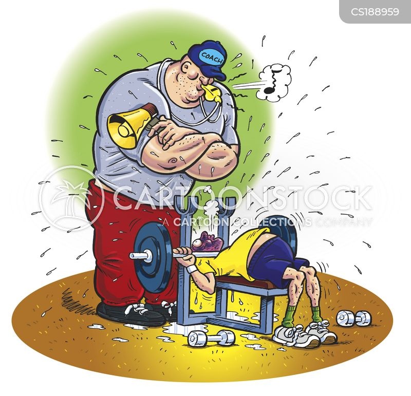 weight lifting cartoon