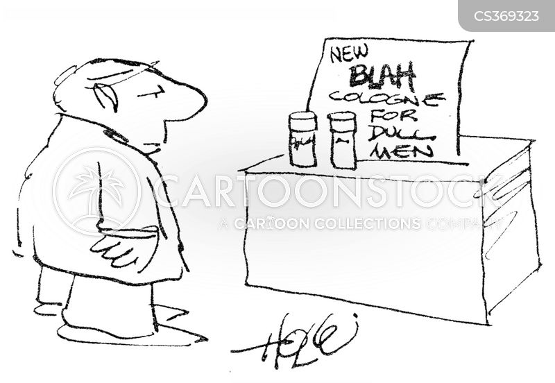 dull man cartoon