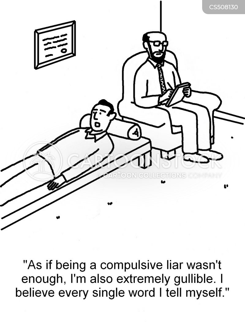 compulsive liar cartoon