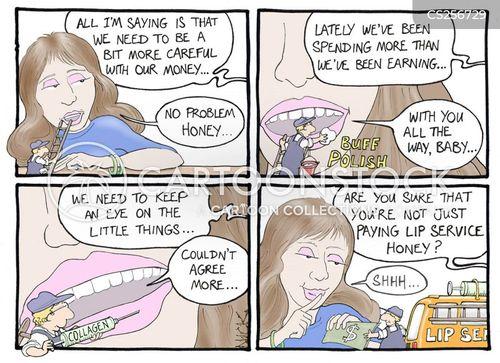 lip service cartoon