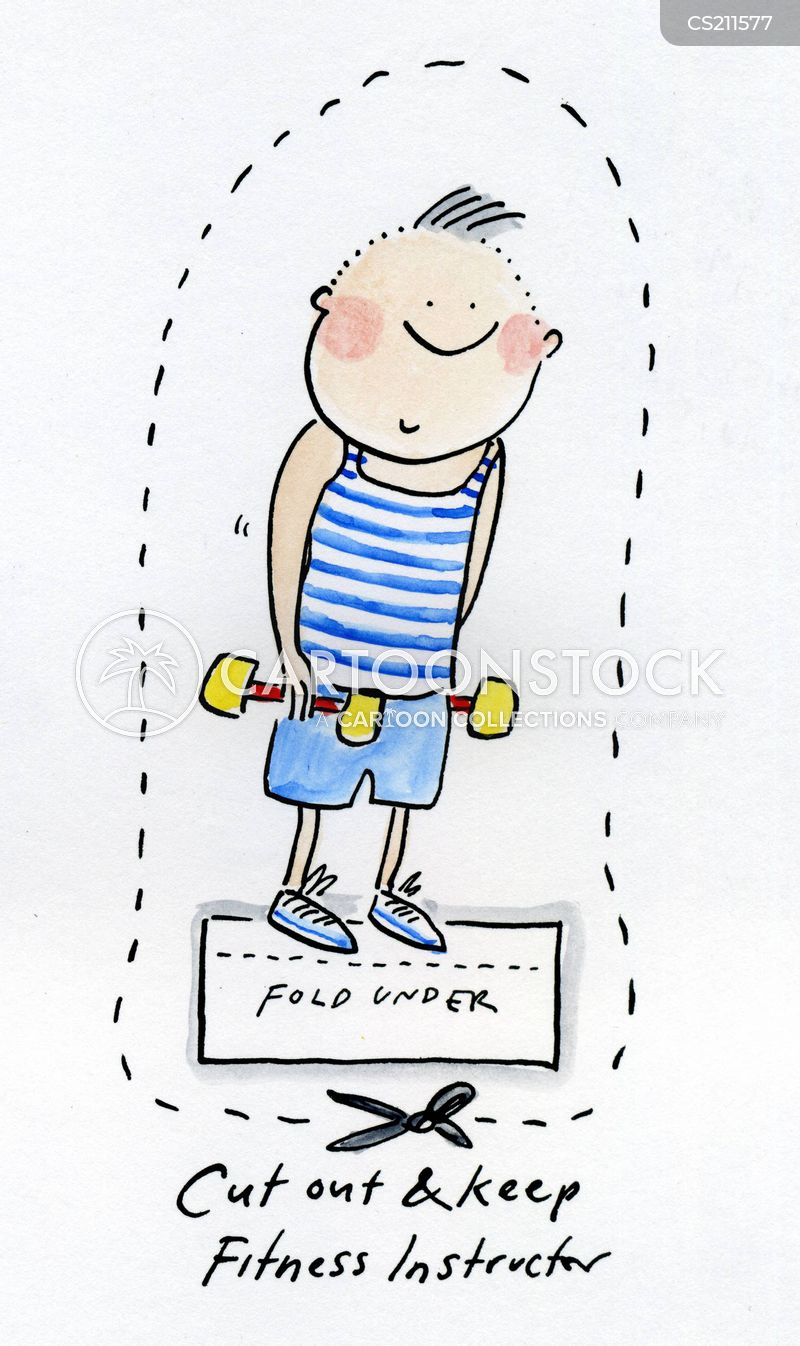 fitness instructor cartoon