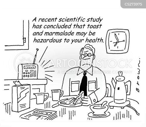 dangerous food cartoon
