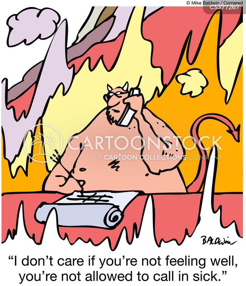 feeling unwell cartoon