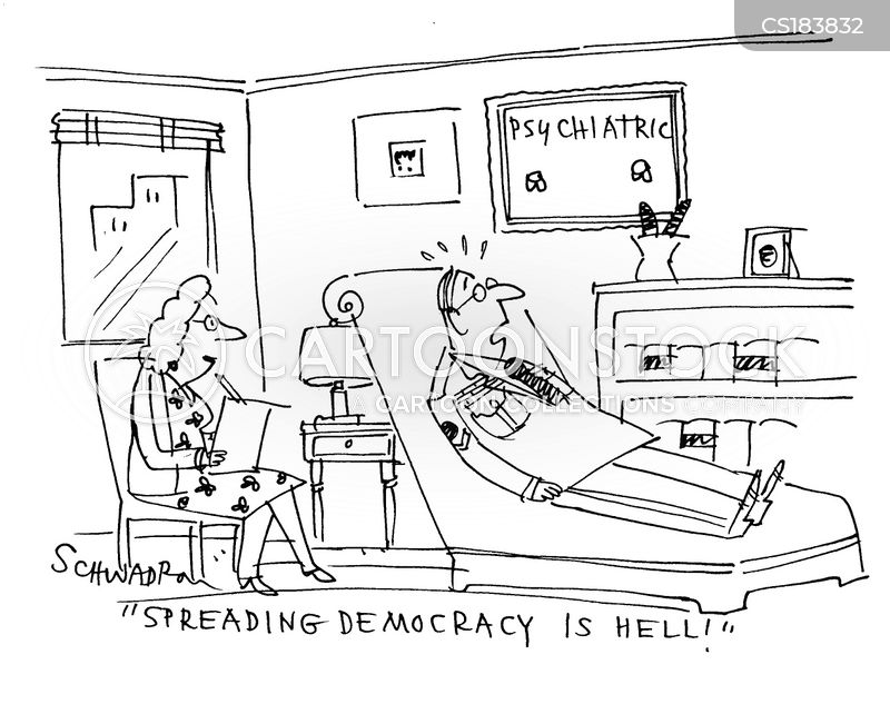 spreading democracy cartoon
