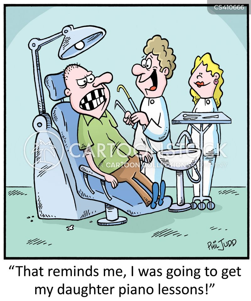 false tooth cartoon