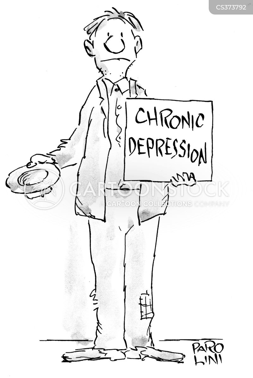 chronic depression cartoon