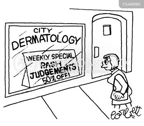 skin experts cartoon